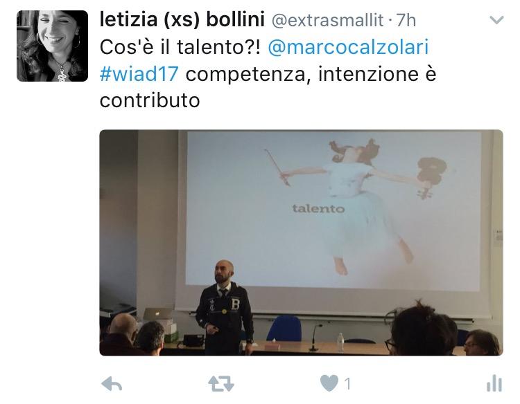 Marco Calzolari al WIAD 2017 Verona-Trento