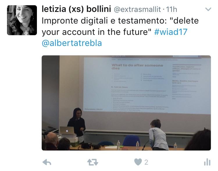 Alberta Soranzo al WIAD 2017 Verona-Trento