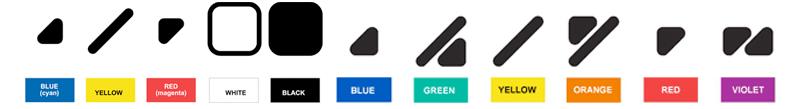 Simboli e colori nel sistema Color ADD