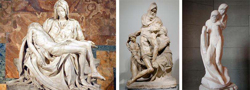 Le pietà di Michelangelo: esercizi di poetica e retorica visiva