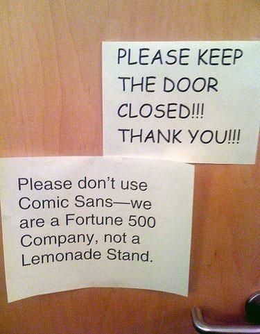 comica sans font