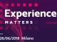 Experience Matter 2018: Ai pattern al Politecnico diMilano