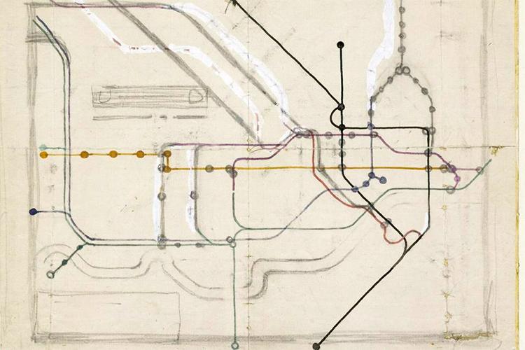 Harri Beck: London tube map, sketches