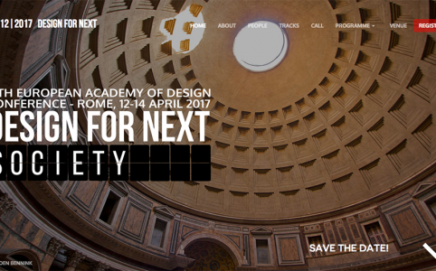 Design for Next: 12th EAD COnference, Roma 12-14 aprile 2017