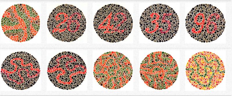 Colore e accessibilità: Ishihara Test for Colour Deficiency